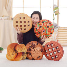 8 Styles Simulation Cookies&Pizza Plush Nap Pillow Stuffed Funny Food Shape Toys for Children & Kids Creative Soft Cushion Gift(China)