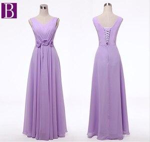 Image 2 - Sorella della sposa più il formato delle donne robe mariage lavanda donna abiti da damigella donore senza bretelle lungo luce viola lilla abito abito