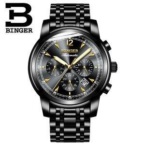 Image 2 - Switzerland Automatic Mechanical Watch Men Binger Luxury Brand Mens Watches Sapphire clock Waterproof relogio masculino B1178 17