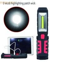 JA 6 Shining Hot Selling Fast Shipping Rechargeable Hand Held LED Cordless COB Work Light Flashlight
