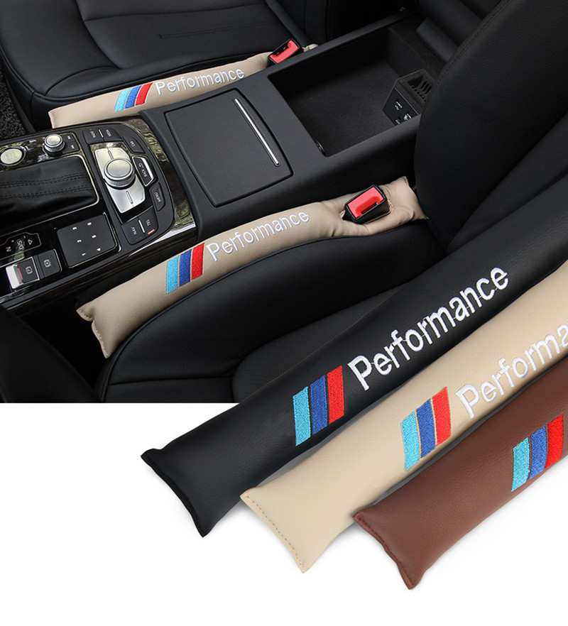 2Pcs Car Seat Gap For BMW Filler PU Black Leather Accessory Cover Spacer UK Hot
