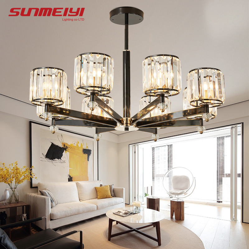 Art Deco Modern Minimalist Geometric Rectangular Square White Dimmable Large Foyer 220v Led Ceiling Chandelier Salon Living Room 2019 New Fashion Style Online Ceiling Lights & Fans Chandeliers