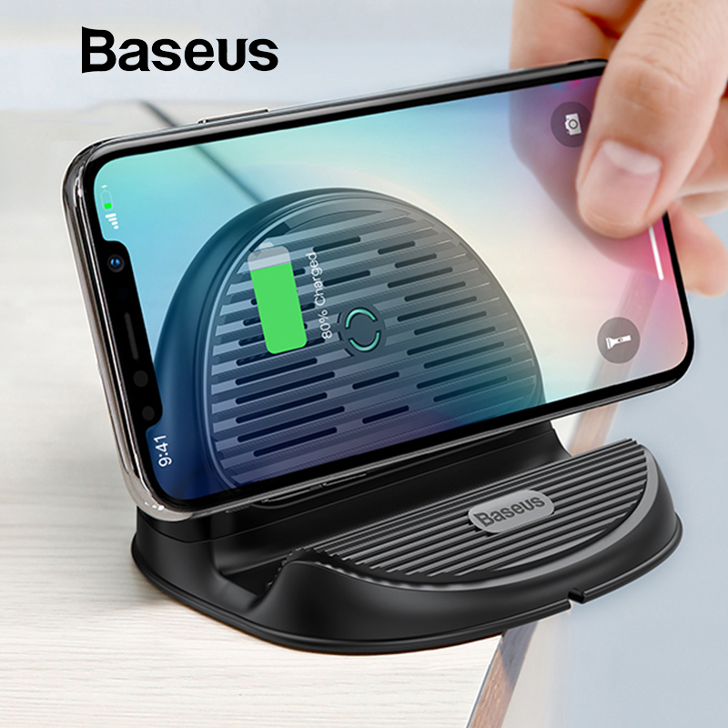 Wireless Charger 10W - QC 3.0 Fast Charging Desktop Stand with Heat Dispension Fan 1