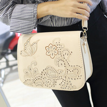 Europe And America 2016 New Handbag Korean Fashion Hollow Carved Saddle Bag Crossbody Tide Female Casual Shoulder Bags