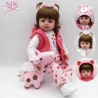 NPK Morbida In Silicone Rinato Bambole Del Bambino Bebes Reborn Doll Com Corpo De Silicone Menina Bambole Del Bambino Regali Di Natale Lol Bambola surprice