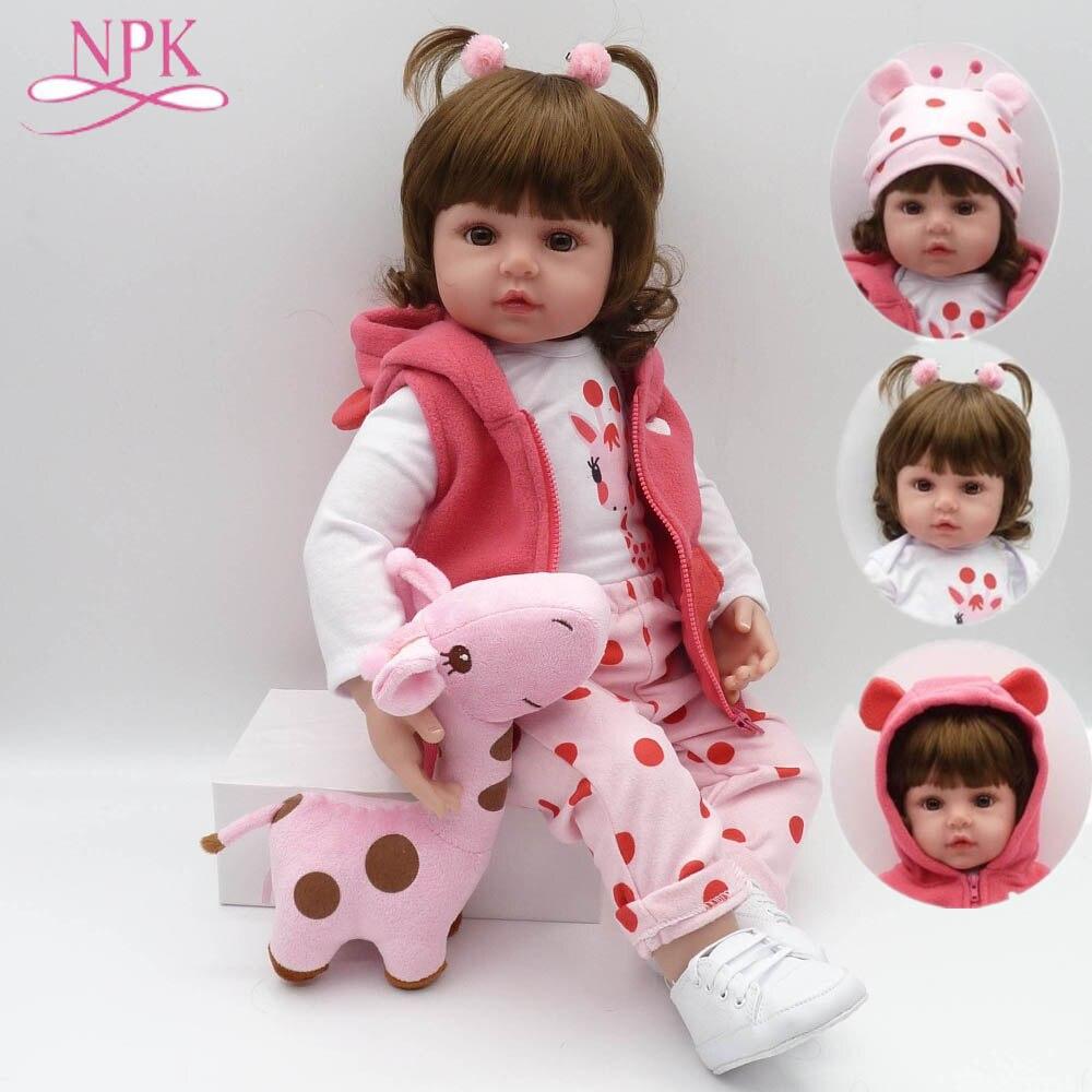 Npk silicone macio reborn bebê bonecas bebes reborn boneca com corpo de silicone menina presentes de natal lol boneca surprice