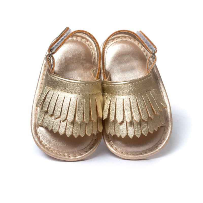 Summer Baby Soft Sandals Bottom Fringe Candy Color Shoes Girls Baby Toddler Slippers Boys Prewalkers