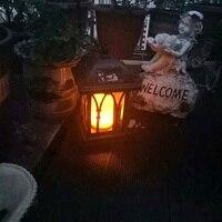 Solar Power Waterproof LED Candle Light Outdoor Garden Lawn Hanging Lantern Lamp HYD88