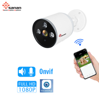 SANAN 1080P 720P Outdoor CCTV Camera Waterproof Wireless Wired Smart IP Camera Sound Detection Wifi Security Camera Onvif Ycc365