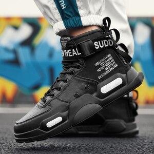 Image 4 - YRRFUOT erkekler moda rahat ayakkabılar Sneakers bahar yüksek en Trend erkek ayakkabıları marka rahat nefes su geçirmez yürüyüş ayakkabısı