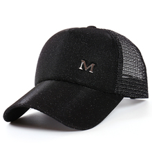 Glitter Ponytail Baseball Cap Women Snapback Hip Hop Caps Female Sequins Shine Summer Hats Mesh Outdoor Hat Casual Unisex 2019 x large summer male female trucker hats outdoor casual hip hop street mesh hat sport cap unisex print baseball caps