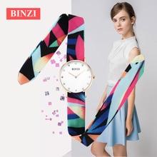 New Women Watches Ladies Quartz Clock Colorful Strap Women Watch Binzi Relogio Feminino