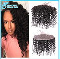 "Cheap Deep curl 13""*4"" Ear To Ear Lace Frontal Closure With Baby Hair 100% Virgin Indian Human Hair Can Bed No Tangle No Shed"