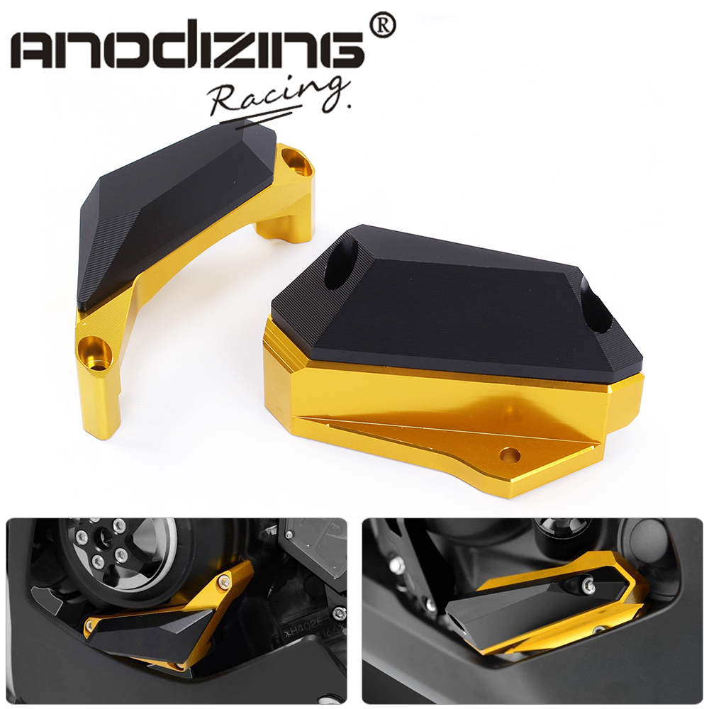 Motorcycle CNC  aluminum  Frame Slider Engine Stator Case Guard Cover Protector For Yamaha YZF R3 2015 2016  YZF R25 2013-2015 for yamaha mt 07 fz 07 mt07 fz07 2014 2016 motorcycle accessories cnc aluminum engine protector guard cover frame slider blue
