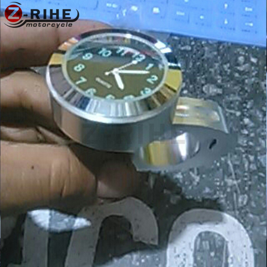 FOR 7/8 Waterproof Universal Motorcycle White Handlebar Mount Dial Clock Watch for Harley Davidson Honda Yamaha Suzuki Kawasaki