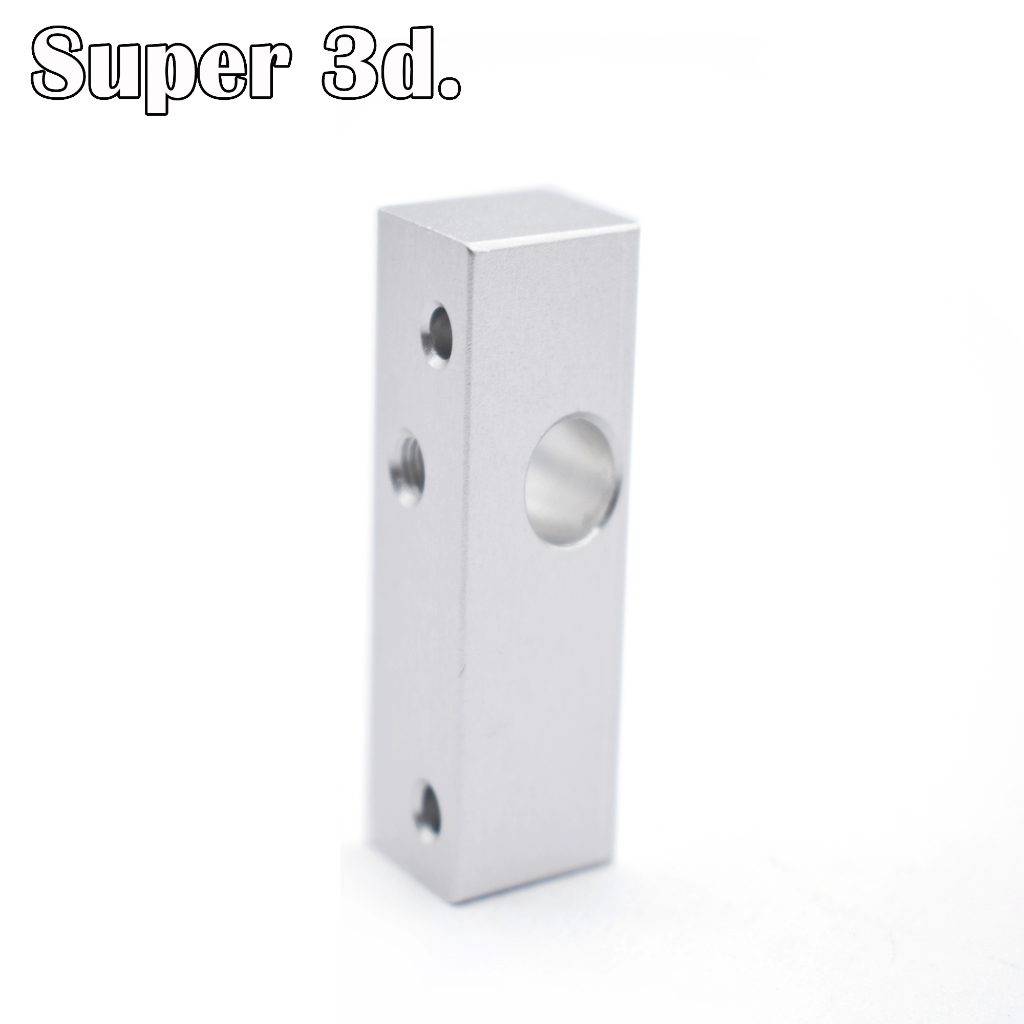 3D Printer MK10 MK 2 Aluminum Heat Block Single Head Extruder Throat Fixing Block