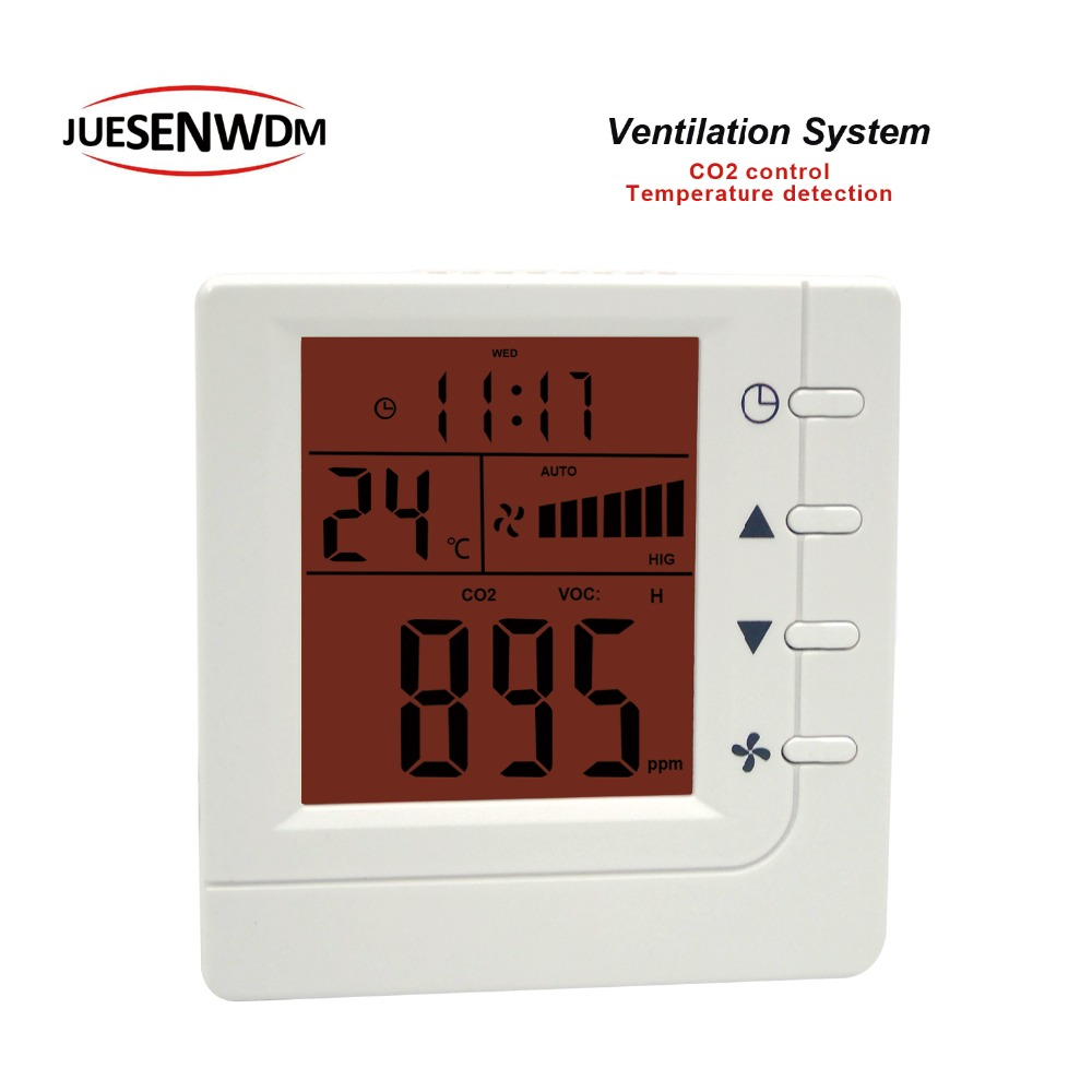 RS485 Office conference room air quality monitor co2 regulator for 3 speed Relay