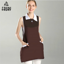 High Quality Sleeveless Beauty Salon Tattoo Supermarket Coffee Shop Nurse Doctors Hospital Uniforms Work Clothes Wholesale(China)