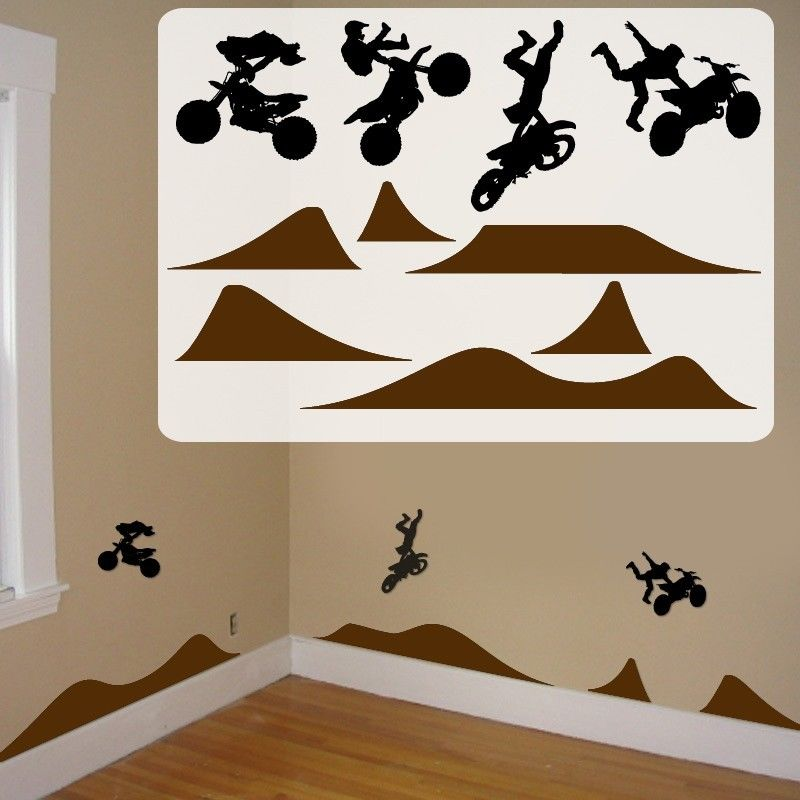 Motocross Kids Room Decals Fathead Style Motocross Kids Room Wall
