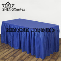 Good Looking 5PCS Sale Polyester Table Skirt For Wedding Event Decoration