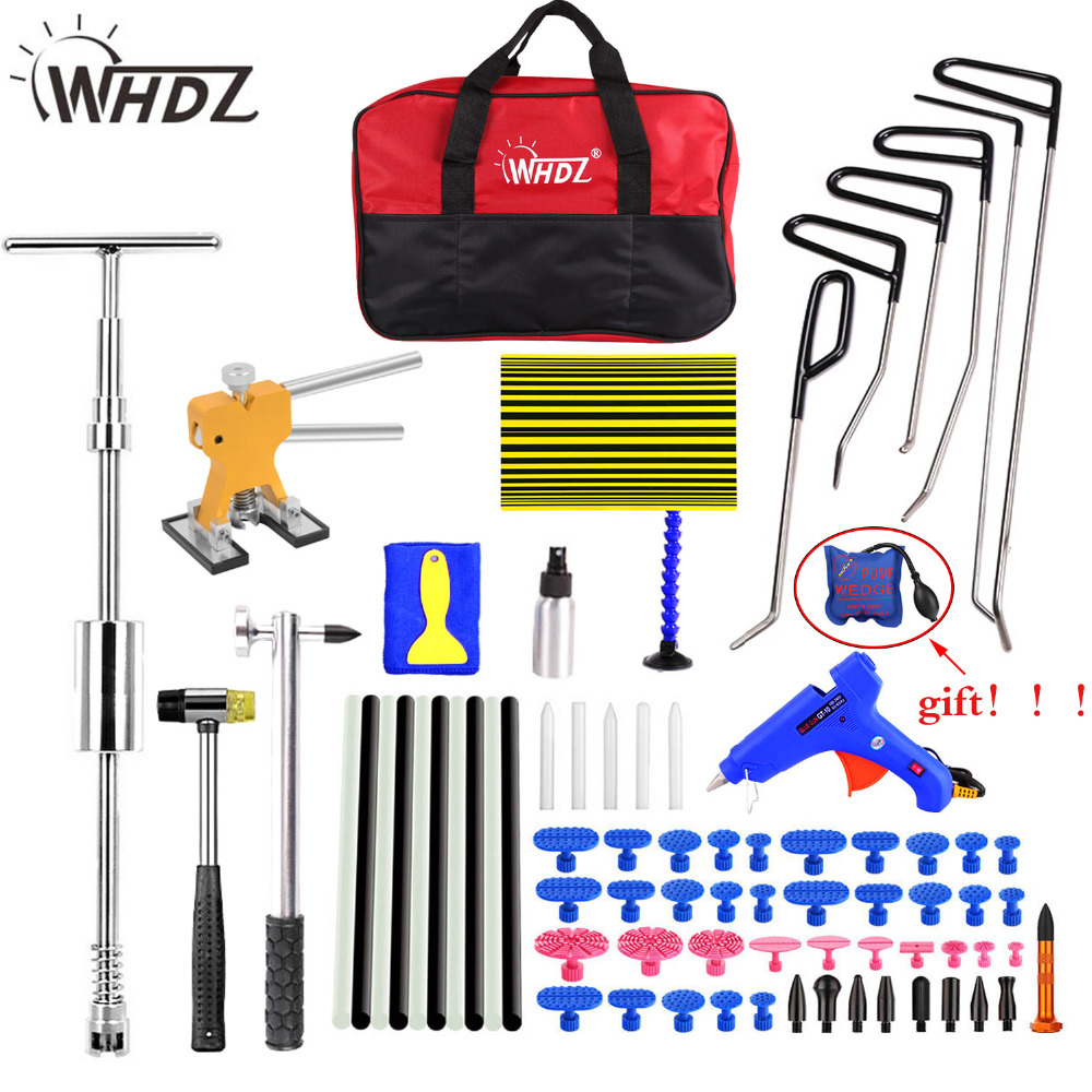 WHDZ Hook Rods Tools Paintless Dent Repair Car Dent Repair Dent Removal Reflector Board Dent Puller