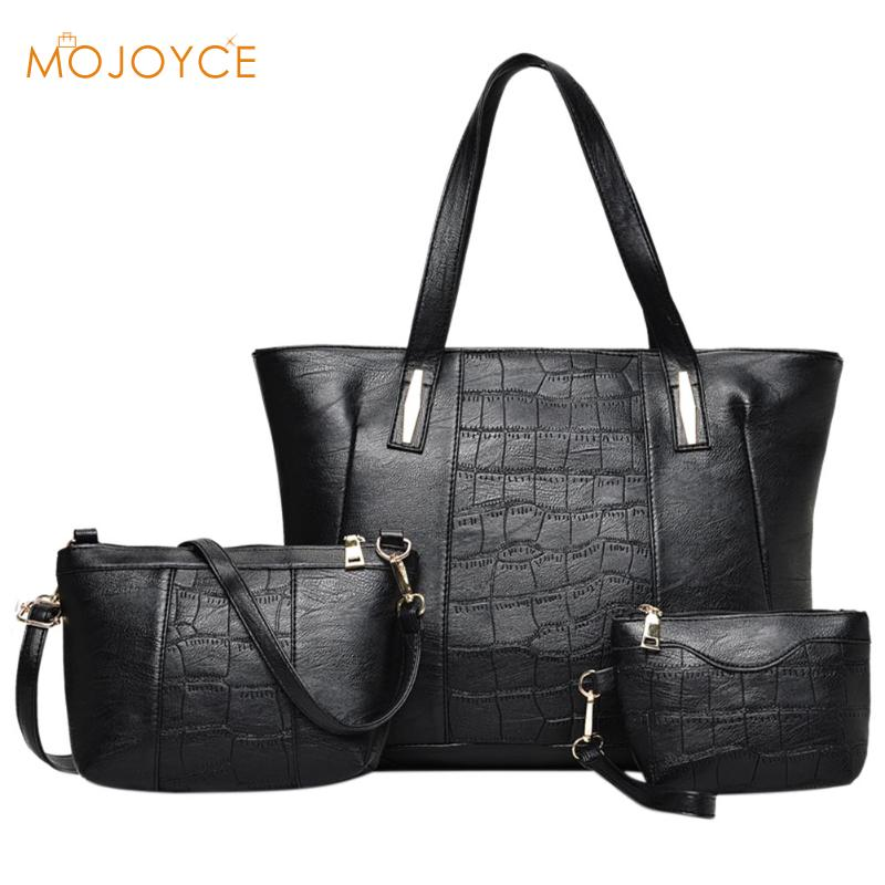 3pcs Leather Bags Handbags Women Famous Brand Shoulder Bag 2018 Female Casual Tote Women Messenger Bag Set Bolsas Feminina New new fashion women messenger bags famous brand casual tote bag women handbags genuine leather luxury designer shoulder bag bolsas
