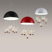 Luzes pingente Levou acessório de cozinha da tela de quatro cores de ferro retro estilo loft lâmpadas de teto sala de jantar e bar do vintage