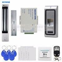 Diysecur指紋125 Khz rfid idカードリーダー金属ケースドアアクセス制御システムキット+磁気ロック+リモコンf2