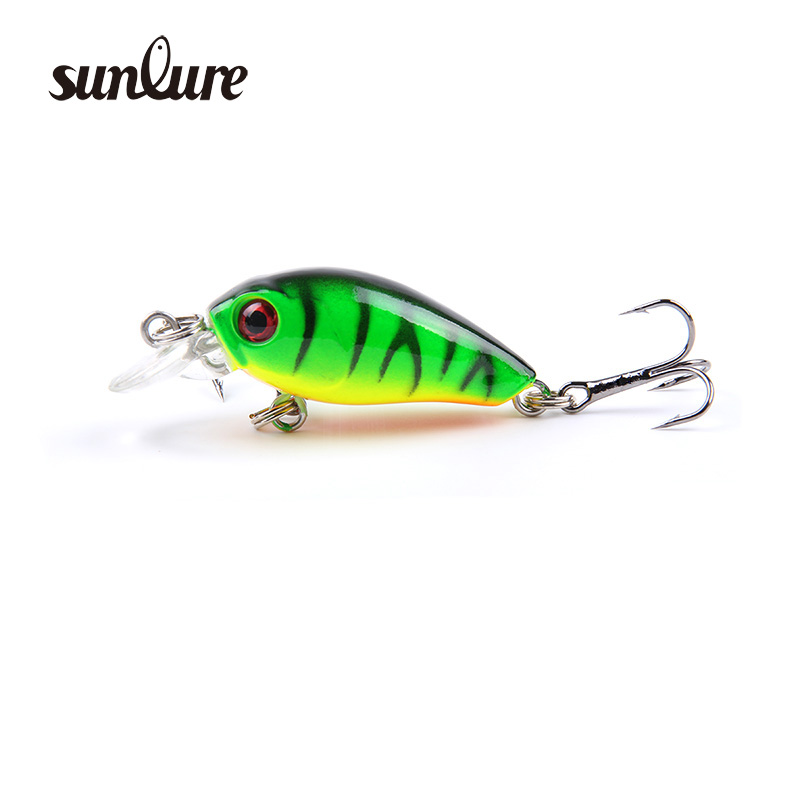 Hot Sale 1Pcs 4cm 4.2g Perch Bait Minnow Crankbait Fishing Lure Treble Barb Hook Fishing Tackle Artificial floating Bait ZB209