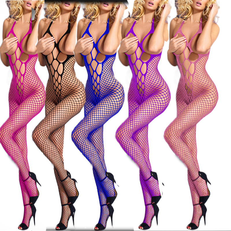 Leechee S001 Women sexy lingerie Fishnet Body stocking Open bra Hollow out cheaper Babydoll Erotic underwear Porn costumes(China)