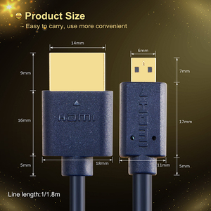 Image 5 - CABLETIME New Arrival Micro HDMI to HDMI Cable Bi directional HDMI Cable 2k*4k 2.0 HD High Premium HDMI CL4 for Box PS4 C127