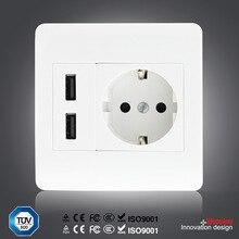 Розетка порт dual панель мач plug ес главная стены разъем зарядное