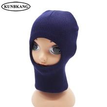Детская зимняя шапка, теплая шапка для мальчиков, теплая ветрозащитная Флисовая Балаклава, детская зимняя вязаная шапочка для маленьких девочек
