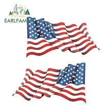 Earlfamily 13cm x 7.2cm bandeiras americanas adesivos decalques veterano militar estados unidos decalque carro caminhão barco decalque diy adesivo de carro