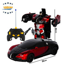 Remote Control Car With Light and Sound Radio Control Toys For Kids 1:14 Gesture Sensor Robot Toys rc Car(China)