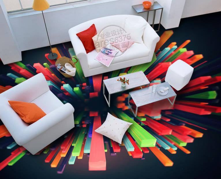Shocked Lifelike 3d Flooring Wallpaper Roll Size Creative Color Self