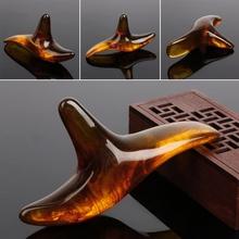 Amber żywica wosk trójkąt stóp masażer stóp Gua Sha akupunktura Shiatsu narzędzie tanie tanio BOTHEALTH CN (pochodzenie) Resin 11x4 5x2 5 cm 4 33x1 77x0 98 inch