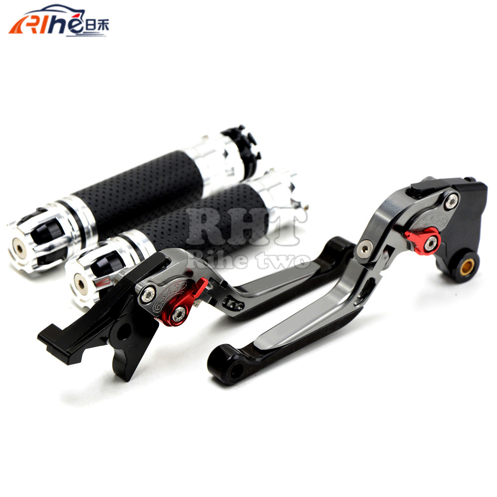 Handlebar Motorcycle Handle Bar Grips Adjustable Clutch Brake Levers For BMW K1200S K 1200 S K1200 S 2004 2005 2006 2008 billet alu folding adjustable brake clutch levers for motoguzzi griso 850 breva 1100 norge 1200 06 2013 07 08 1200 sport stelvio