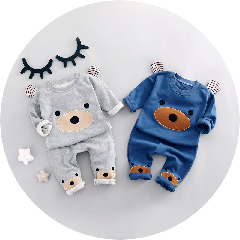 2017 Spring New fashion baby boy clothes cotton material o neck full sleeve boys clothing set