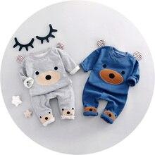 2017 Printemps Nouveau mode bébé garçon vêtements coton matériel o-cou pleine manches garçons vêtements set A009