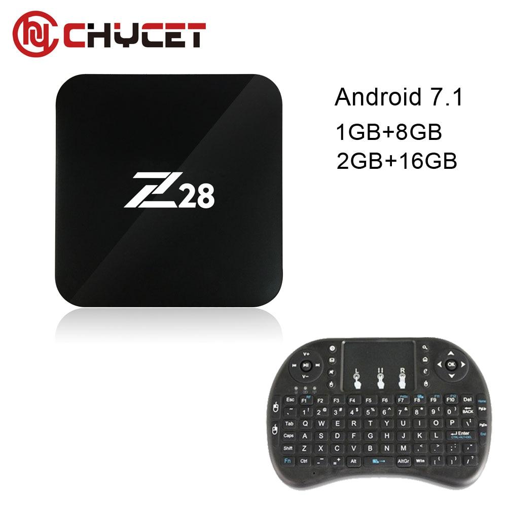 Android 7.1 TV Box Rockchip Z28 RK3328 bits Cortex A53 1 GB/8 GB 2 GB/16 GB opci