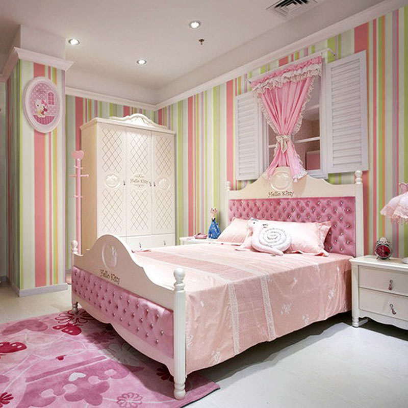 Vertical Stripes Wallpapers For Children Bedroom Wall