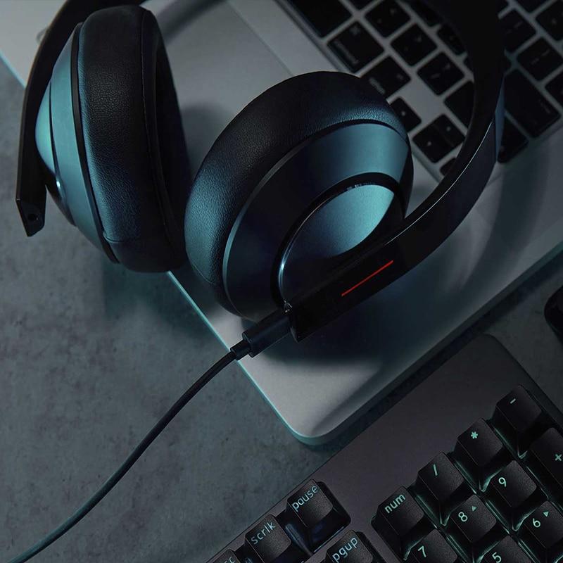 Nouveau Xiao mi casque de gaming 7.1 mi casque de jeu Virtuel Surround Stéréo Avec Rétro-Éclairé Anti-bruit Casque Pour PC Portable Téléphone - 4