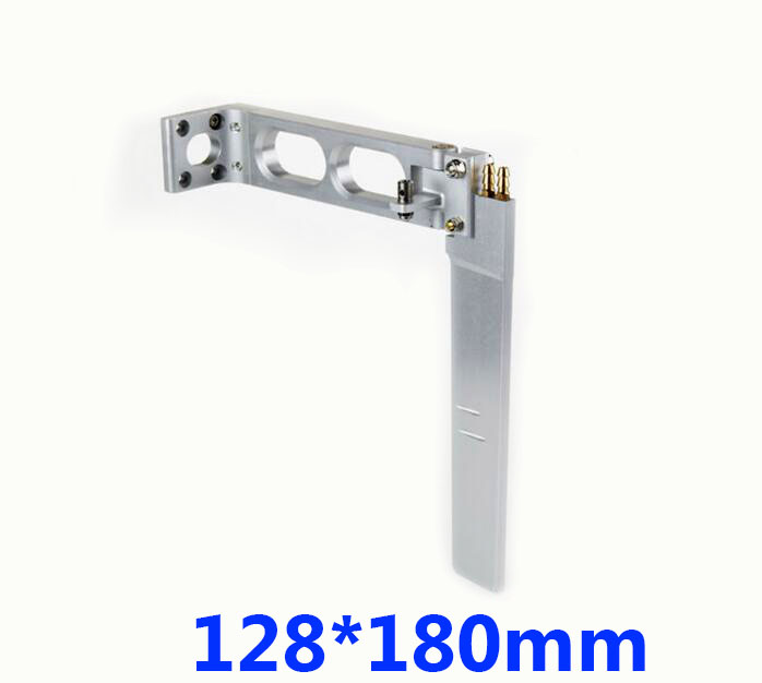 Free Shipping 128*180mm RC boat steering wheel aluminium alloy rudder with two water intake holes for RC Gasoline boat free shipping 110mm water steering wheels aluminum middle steering wheel for rc racing boat brushless electric boat spare parts page 2