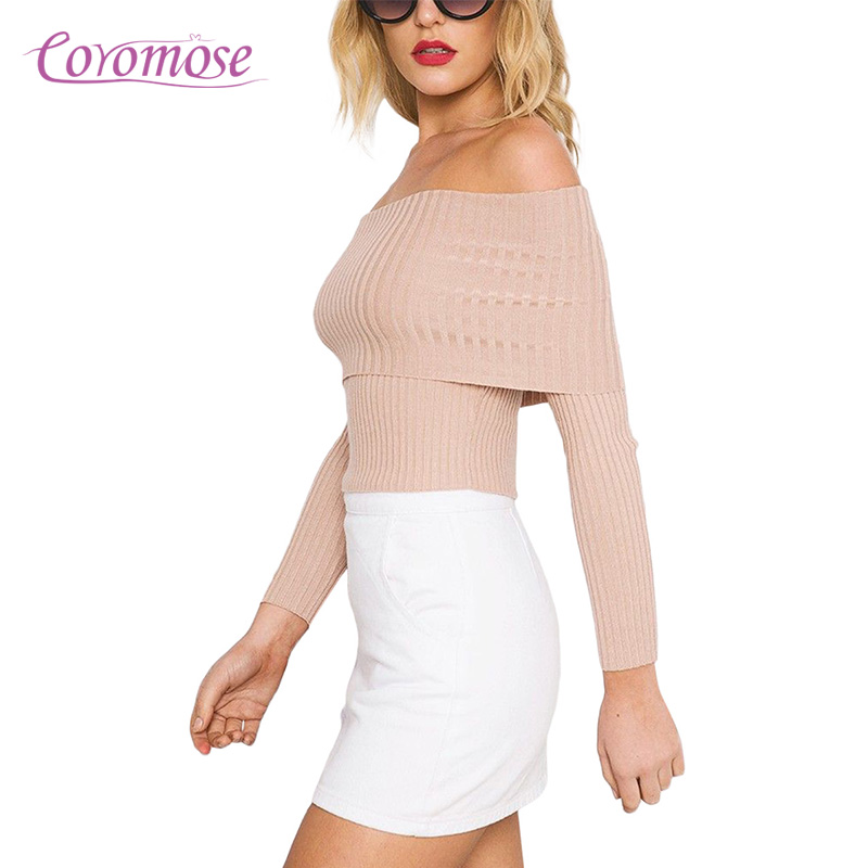 vendita professionale a buon mercato intera collezione Coromose moda autunno inverno base slash neck scrollata di ...