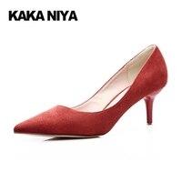 High Heels Travel Queen Large Size Womens Shoes Cheongsam Shallow High Heels Asakuchi Spring Slip On