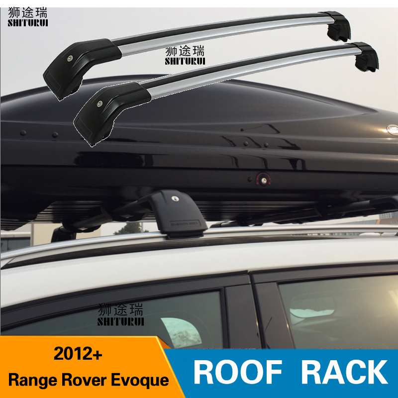SHITURUI 2Pcs Roof bars For land rover Range Rover Evoque 2011+ SUV  Aluminum Alloy Side Bars Cross Rails Roof Rack LuggageSHITURUI 2Pcs Roof bars For land rover Range Rover Evoque 2011+ SUV  Aluminum Alloy Side Bars Cross Rails Roof Rack Luggage