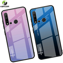 Keajor Case For Huawei Nova 5i Luxury Gradient Back Cover Tempered Glass Hard Bumper P20 lite 2019 Phone Cases