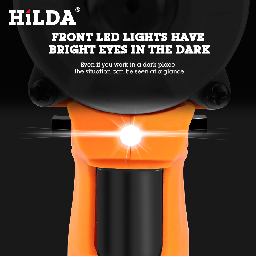 HILDA 21V Cordless Impact Electric Wrench Brushless Socket Wrench Power Tools