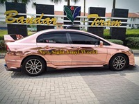 Высококачественная Гибкая блестящая хромированная розовая Золотая Автомобильная Виниловая пленка для автомобильных наклеек без пузырько